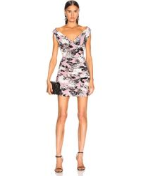 393b01f721b MILLY Tara Belted Cocktail Dress W Ruffled Skirt in Pink - Lyst