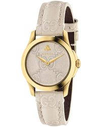 Gucci - 27mm G-timeless Logo Embossed Strap Watch - Lyst