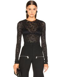 Enza Costa - Stretch Lace Fitted Long Sleeve Crew - Lyst