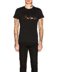 0c8a64c4 Balmain - Signature Logo Cotton T-shirt - Lyst