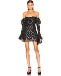 Jonathan Simkhai - For Fwrd Off The Shoulder Metallic Lace Dress - Lyst