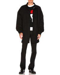 Raf Simons - Shirt Coat In Black - Lyst