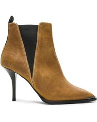 Acne Studios - Waxed Suede Jemma Boots - Lyst