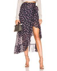 Ganni - Tilden Mesh Wrap Skirt - Lyst