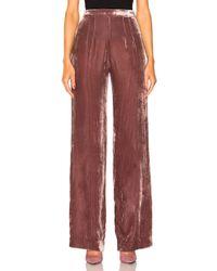 ThePerfext - Alex High Waisted Velvet Pants In Rose - Lyst