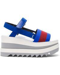Stella McCartney - Platform Wedge Sandals - Lyst