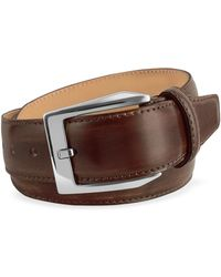 4c4da8c8a848 Paul Smith Men s Brown Hand-stitched Leather Belt in Brown for Men ...