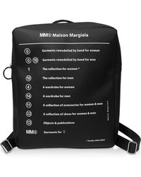 MM6 by Maison Martin Margiela - Black Square Signature Backpack - Lyst
