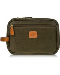 Bric's - Life - Olive Green Micro Suede Travel Case - Lyst