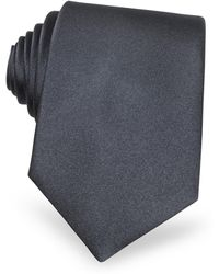 FORZIERI - Solid Grey Extra-long Tie - Lyst