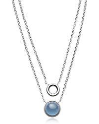 Skagen - Sea Glass Layered Pendant Necklace - Lyst