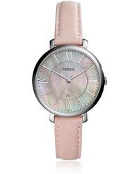 Fossil - Jacqueline Three-hand Date Blush Women's Watch - Lyst