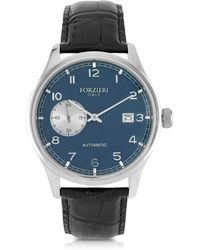FORZIERI - Byron Stainless Steel Men's Watch W/croco Leather Strap - Lyst