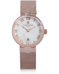 Lancaster | Chimaera Rose Gold Stainless Steel Watch | Lyst