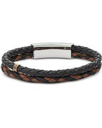 Fossil - Men's Vintage Casual Multi-strand Leather Bracelet - Lyst