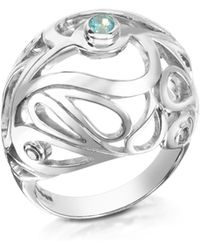 Sho London - Sterling Silver Mari Splash Boule Ring - Lyst