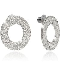 Rebecca | R-zero Rhodium Over Bronze Stud Drop Earrings | Lyst