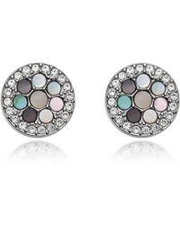 Fossil - Vintage Glitz Crystal Studs Women's Earring - Lyst