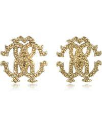 Roberto Cavalli - Rc Lux Crystals Stud Earrings - Lyst