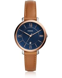 Fossil - Jacqueline Three-hand Date Luggage Women's Watch - Lyst