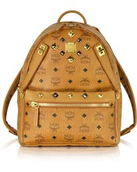 MCM - Cognac Small Dual Stark Backpack - Lyst