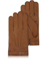 FORZIERI - Braune Herrenhandschuhe aus italienischem Leder - Lyst