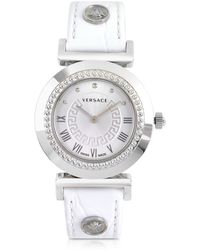 Versace - Vanity Lady White Women's Watch - Lyst