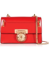 Balmain - B.box 20 Red Glossy Leather Flap Bag - Lyst