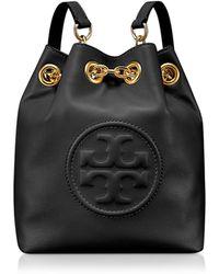 Tory Burch - Key Item Black Leather Mini Backpack - Lyst