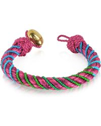 Aurelie Bidermann | Maya Peony Bracelet W/18k Gold-plated Bead | Lyst