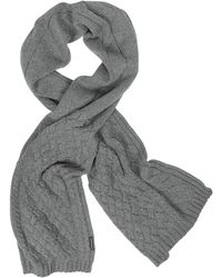 Armani Jeans - Cable Knit Wool Blend Long Scarf - Lyst