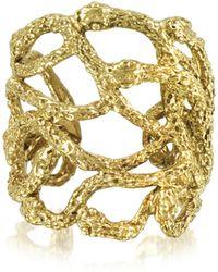 Bernard Delettrez - Multi Snakes Flat Bronze Ring - Lyst