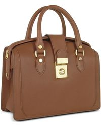 L.A.P.A. Brown Italian Leather Doctor Bag