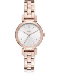 DKNY - Ellington Rose Gold Tone Women's Watch - Lyst