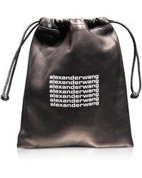 Alexander Wang - Black Lambskin Ryan Mini Dustbag - Lyst