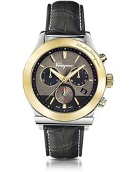 Ferragamo - Reloj para Hombres Ferragamo 1898 de Acero Inoxidable Bicolor y Correa Bicolor - Lyst