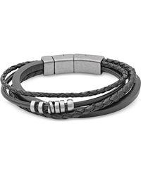 Fossil - Vintage Casual Braided Men's Bracelet - Lyst