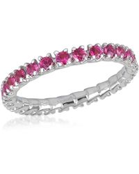 FORZIERI - Pink Sapphires 18k Gold Eternity Band - Lyst