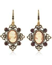 Alcozer & J - Cameo Earrings W/ Baroque Frame - Lyst