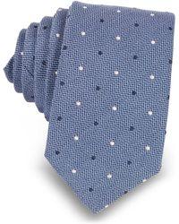 FORZIERI - Polka-dots Woven Silk Narrow Tie - Lyst