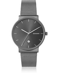 Skagen - Ancher Titanium And Grey Sunray Dial Men's Watch - Lyst