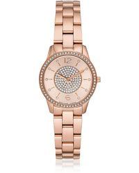 1a838a61f945 Michael Kors Runway Watch - Silver pink in Metallic - Lyst