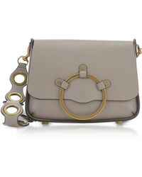Rebecca Minkoff - Taupe Leather Ring Shoulder Bag - Lyst