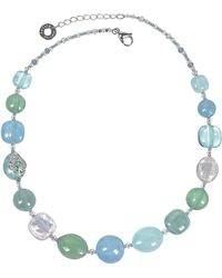 Antica Murrina - Florinda Light Blue And Green Murano Glass Beads Necklace - Lyst