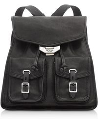 Rag & Bone - Black Leather Field Small Backpack - Lyst