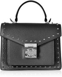 MCM - Small Patricia Studded Park Avenue Satchel Bag - Lyst