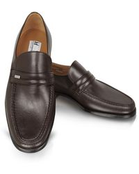 Moreschi - Monaco Wide Brown Leather Loafers - Lyst
