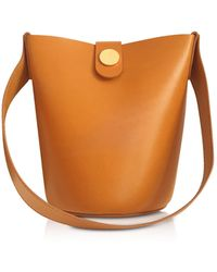 Sophie Hulme - Shiny Saddle Leather Nano Swing Bag - Lyst