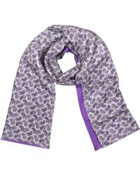 FORZIERI - Paisley Print Silk Reversible Men's Scarf - Lyst