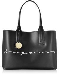ea8bd087706f Emporio Armani - Signature Print Tote Bag - Lyst